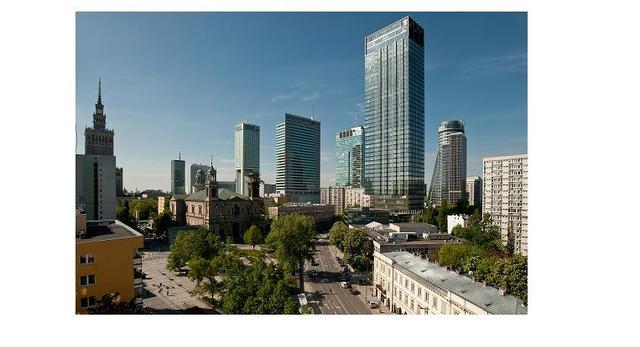Wieżowec Cosmopolitan Twarda 2/4 - Warszawa  autor: Helmut Jahn
